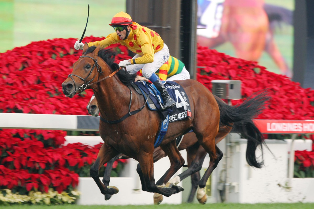 Akeed Mofeed put it altogether to win the Hong Kong Cup for Douglas Whyte last month. Photo: Kenneth Chan