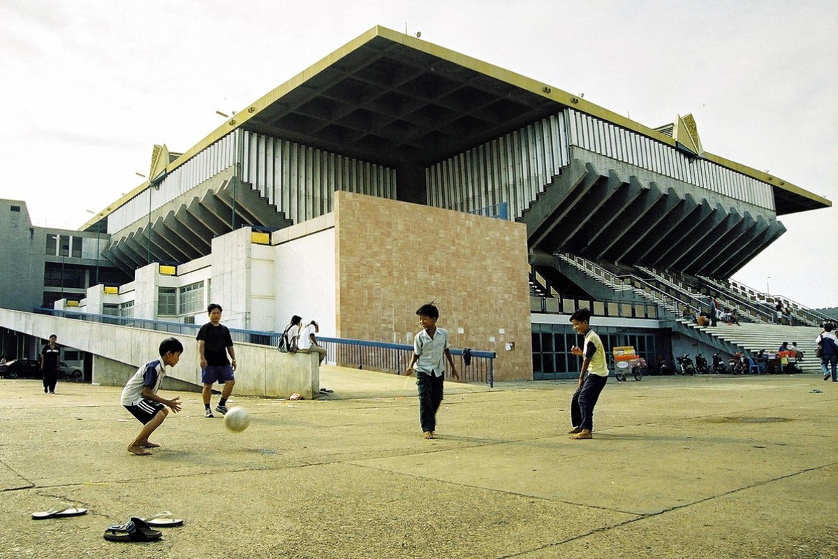 The National Sports Complex, which used to boast a series of intricate pools.