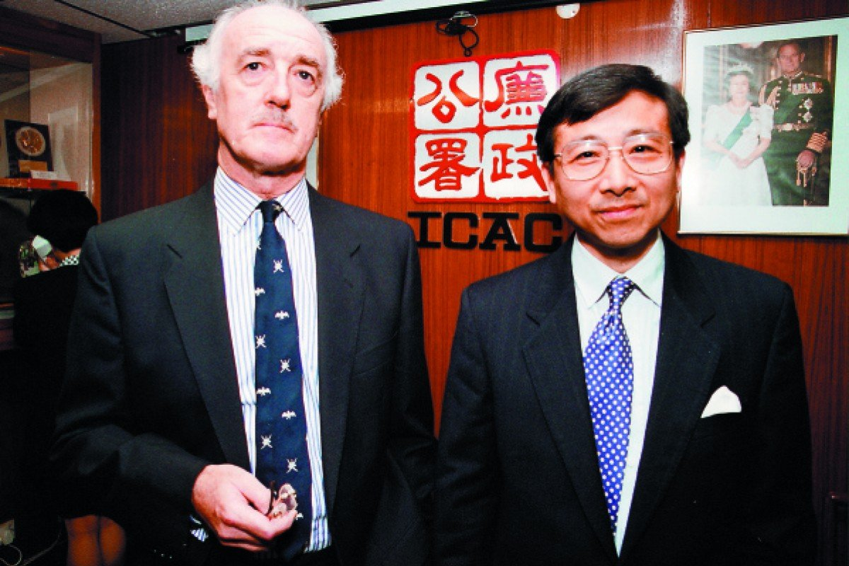 A picture from 1993 shows the ICAC's then director of investigations, Tony Kwok Man-wai, with Peter Graham, the commission's then director of intelligence and support.