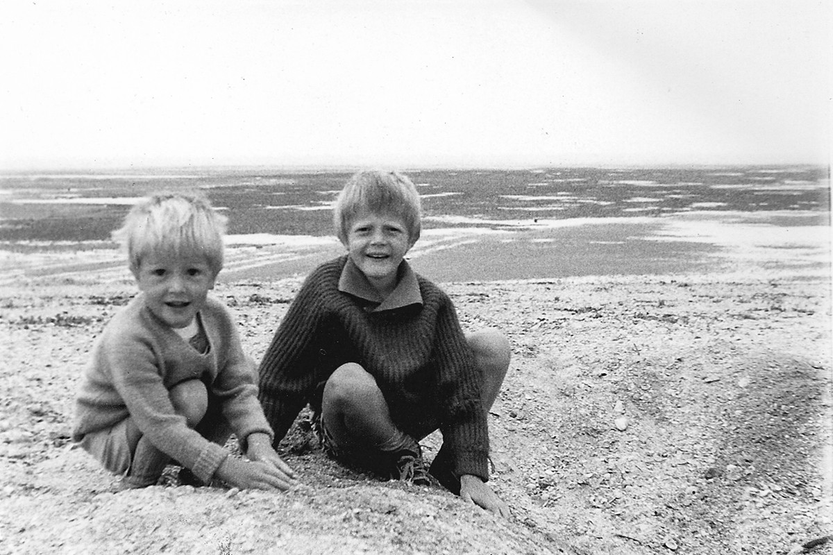 Childish (left) and his brother, Nichollas Hamper, in 1963.