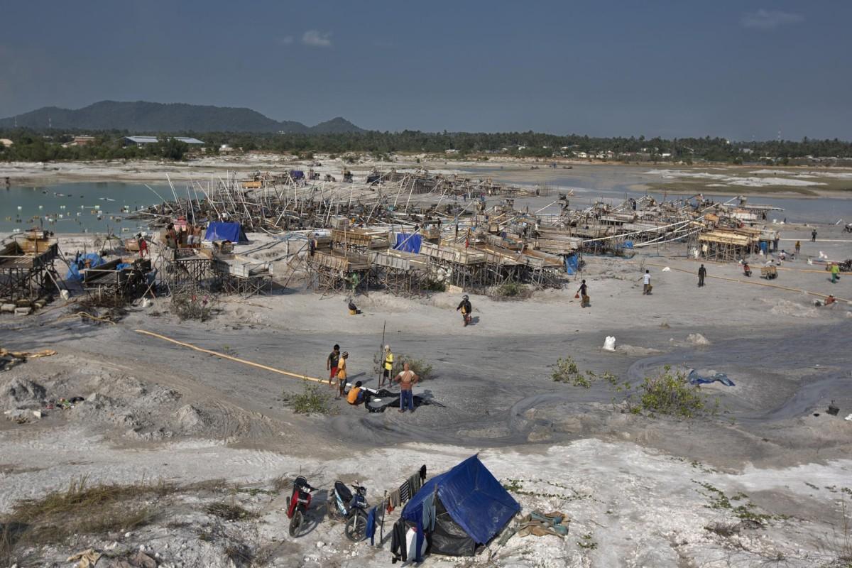 Mining operations on the outskirts of Sungai Liat, on Bangka Island, Indonesia.