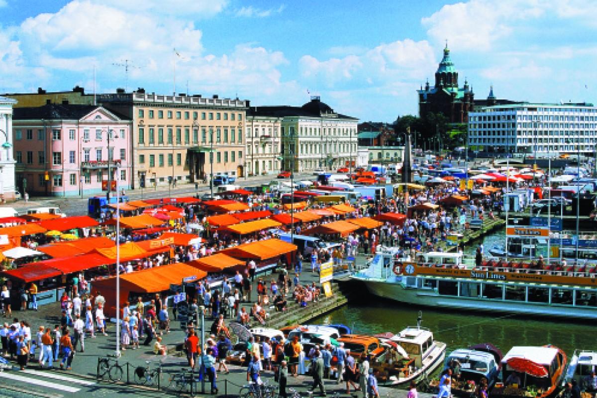 Market Square on South Harbour, Helsinki.