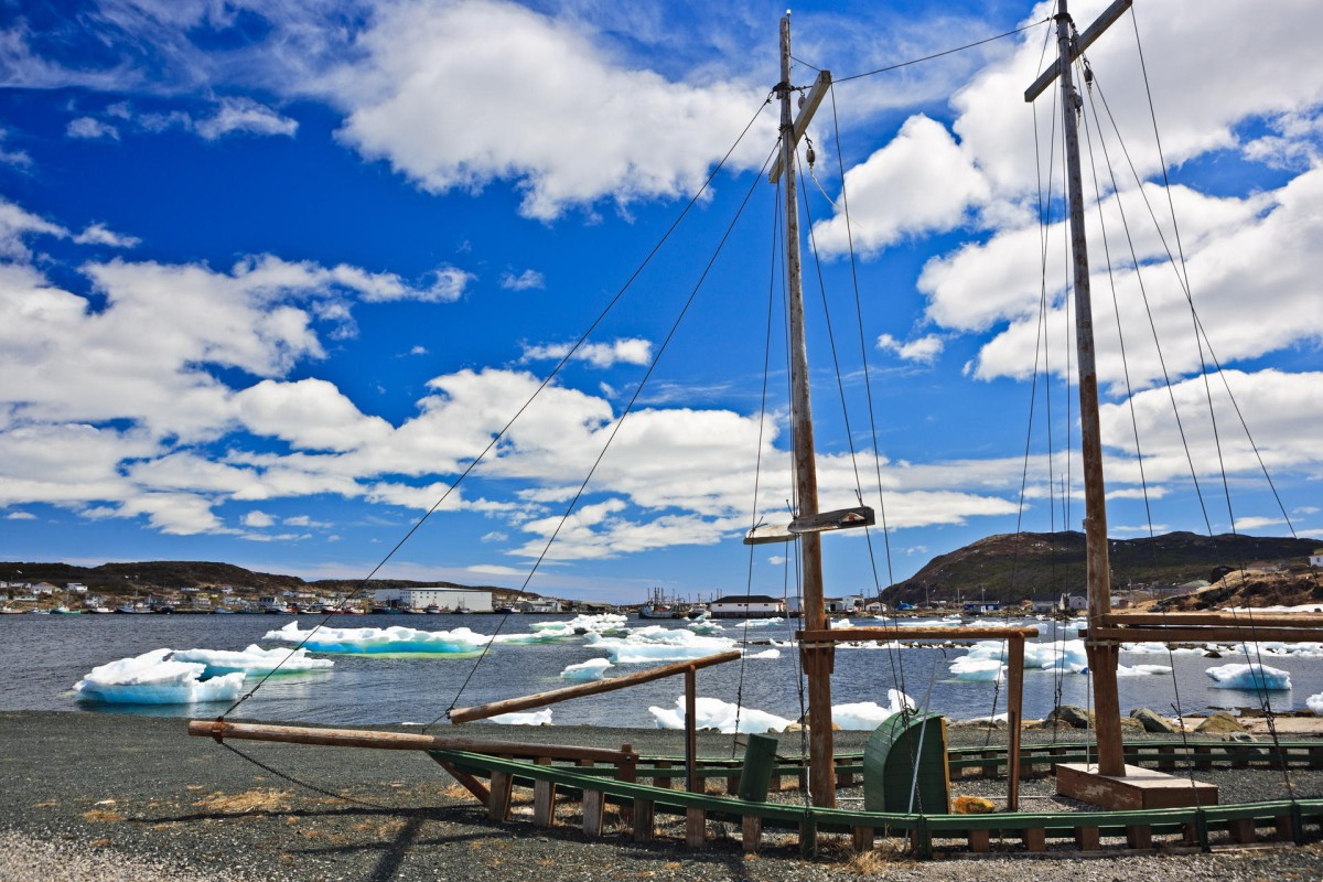 Pack ice in St Anthony's harbour, Newfoundland, Canada. Photos: David Bartram; Corbis