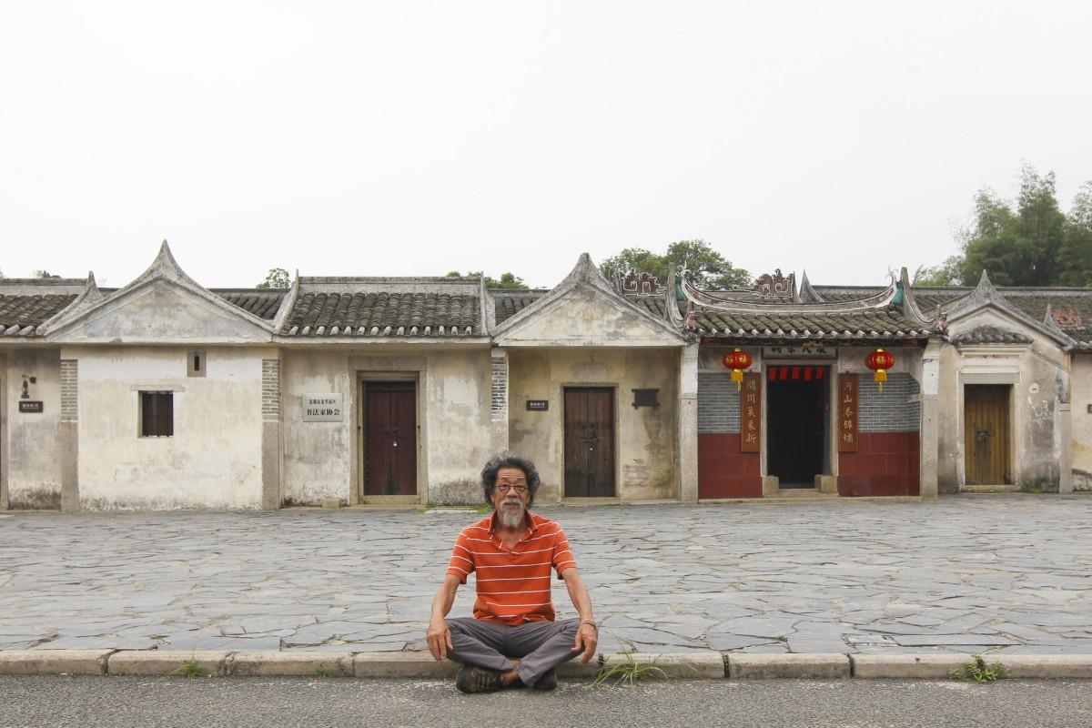 Leo Lee outside the Printmaking Base artists' village, Shenzhen. Photos: May Tse