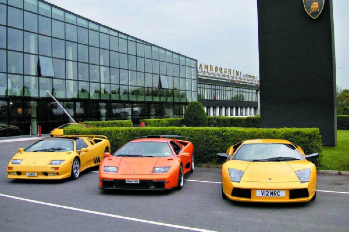 Lamborghini's Sant'Agata Bolognese factory includes a team of women on the production line.