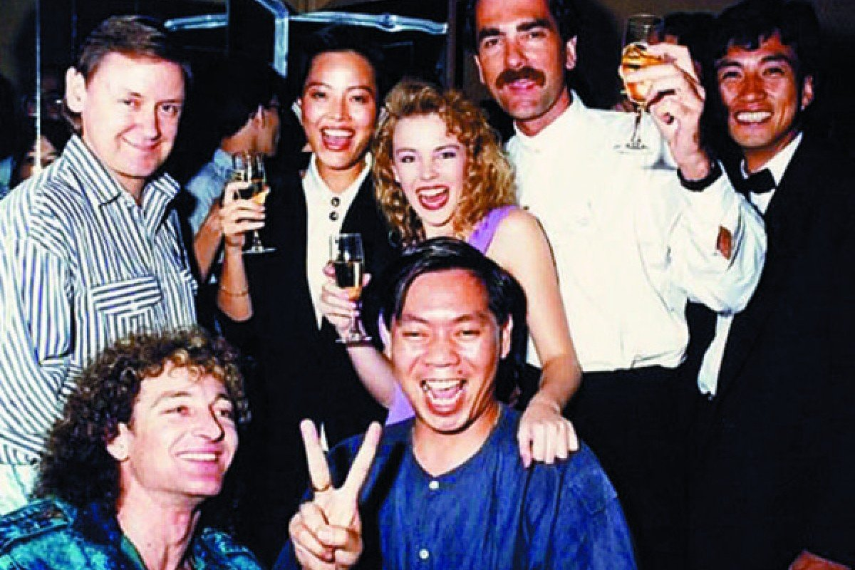 Australian singer Kylie Minogue at Canton Disco.