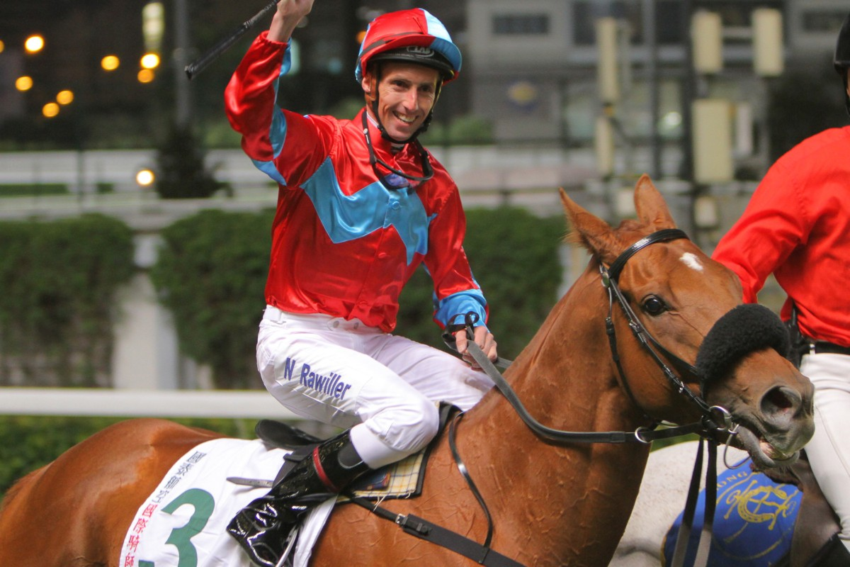 Nash Rawiller already knows his way around Happy Valley, having won a leg of the 2010 International Jockeys' Championship on Record High. Photo: Kenneth Chan