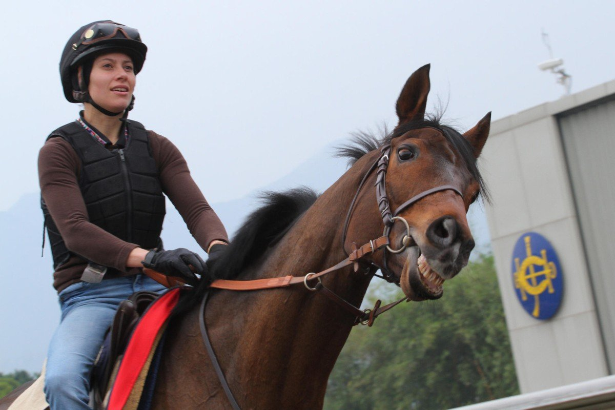 Zoe Gargoulaud takes Cirrus Des Aigles for a hit out on Friday morning. Photos: Kenneth Chan