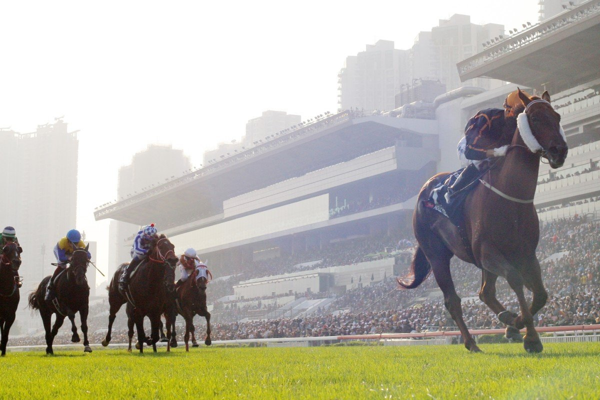 Able Friend smashes his opposition in the Hong Kong Mile, stamping himself as the world's top miler. Photo: Kenneth Chan