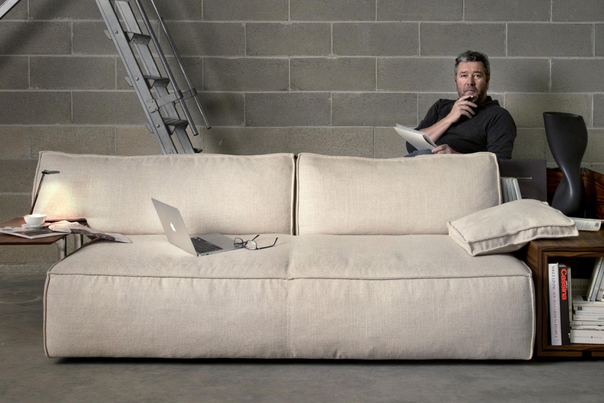 Philippe Starck's MyWorld leather sofa designed for Cassina.
