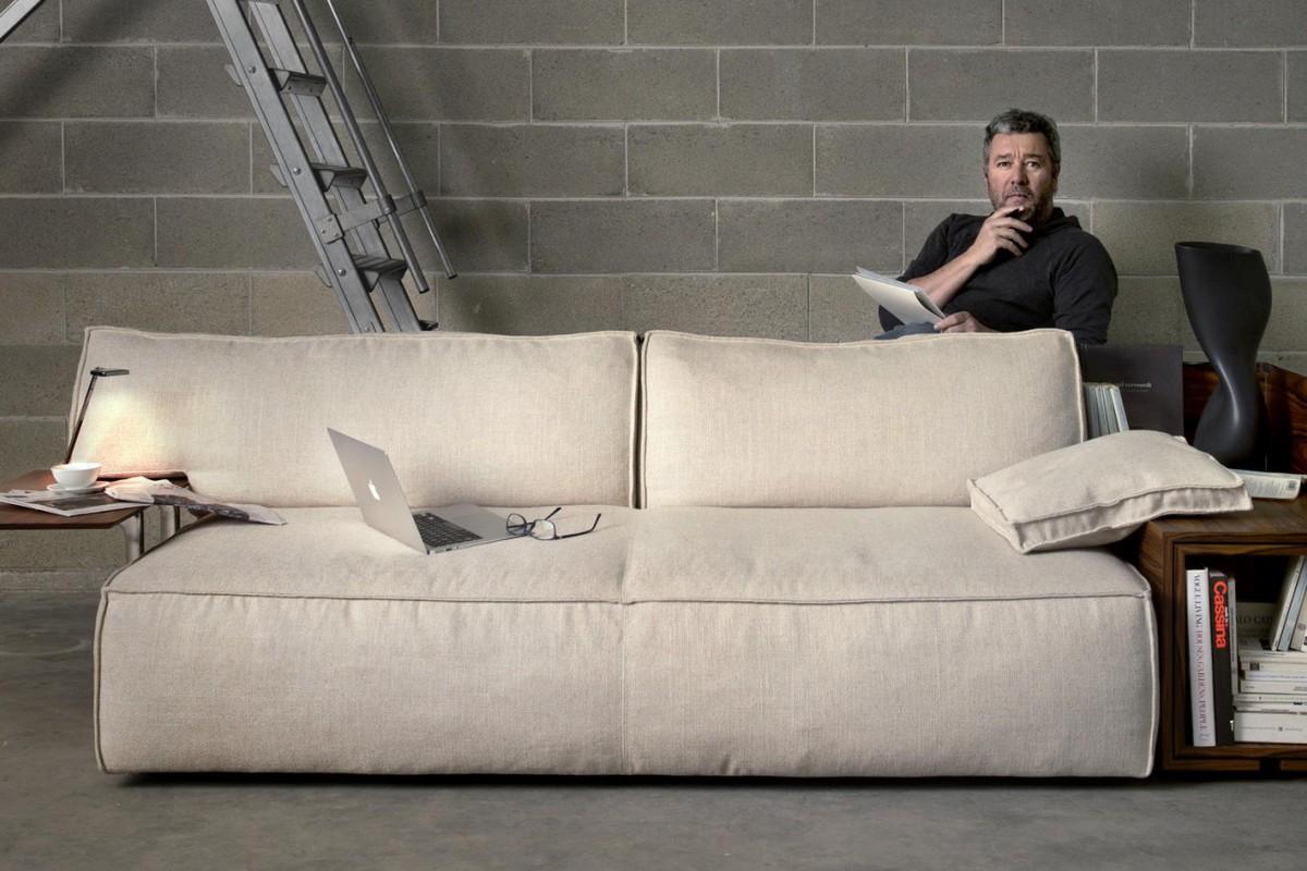Philippe Starcku0027s MyWorld Leather Sofa Designed For Cassina.