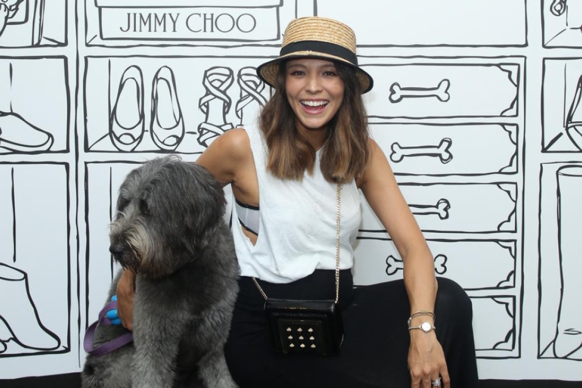 Model Cara G brought her four-legged friend tothe afternoon party #stylescmp