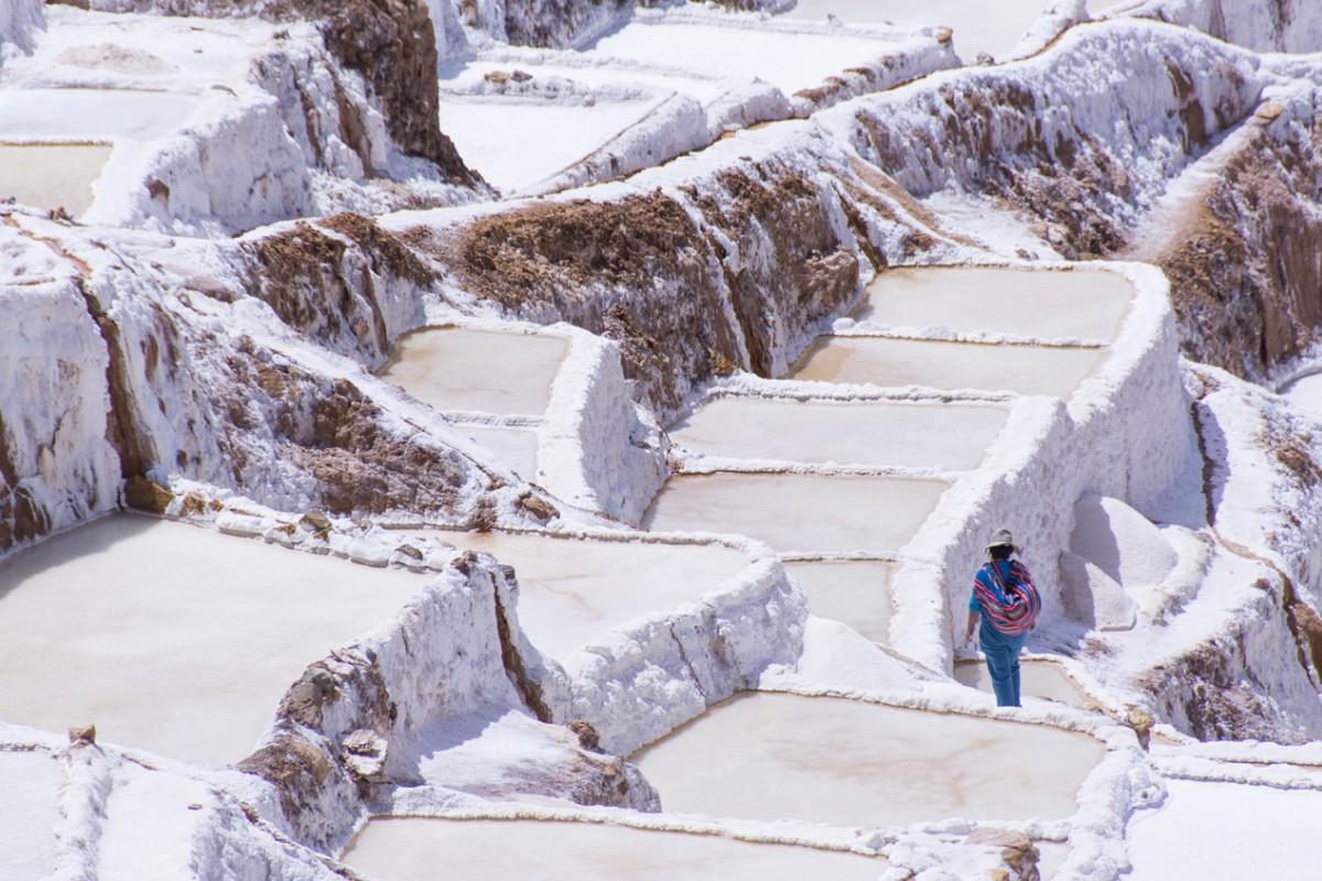 Salt ponds in Maras, Peru. Photos: Corbis; Kate Whitehead
