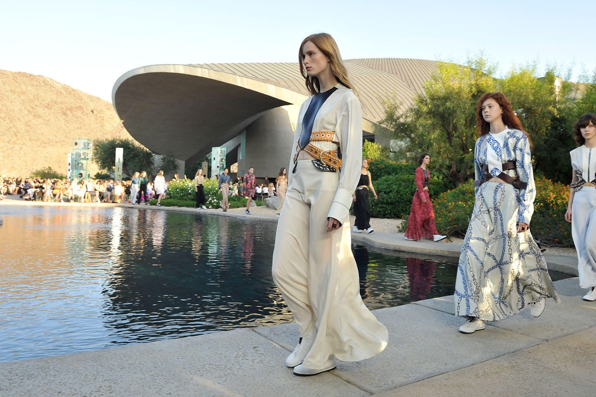 Louis Vuitton first showed the Cruise Collection in Palm Springs.