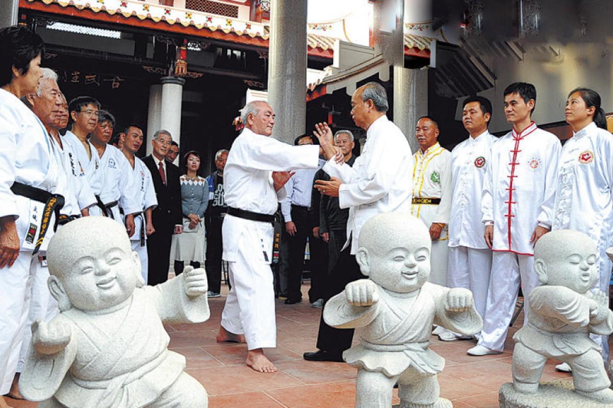 Martial-arts practitioners in Fujian province.