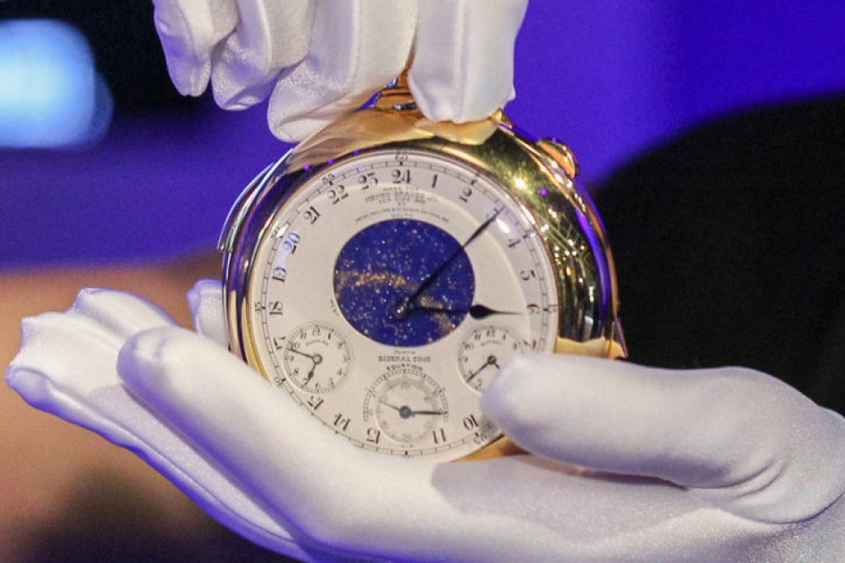 Patek Philippe's Henry Graves Supercomplication fetches US$24 million at Sotheby's Geneva sale in 2014.