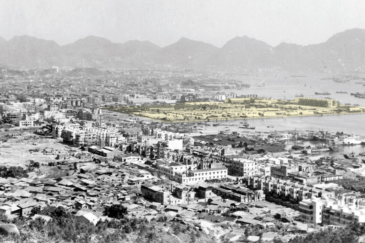 The Sham Shui Po camp (highlighted) in 1946-47. Photos: courtesy of the Heywood family