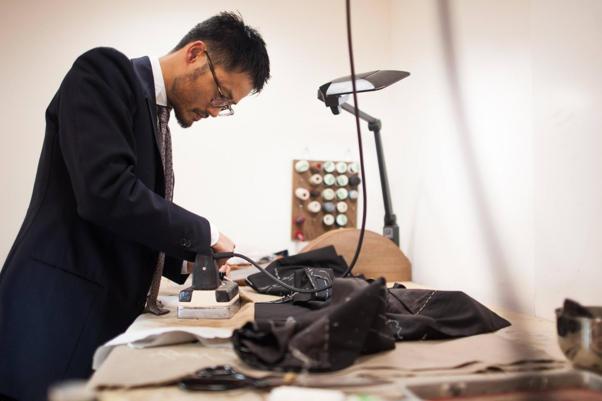Noriyuki Ueki of Ciccio works in his Tokyo atelier.