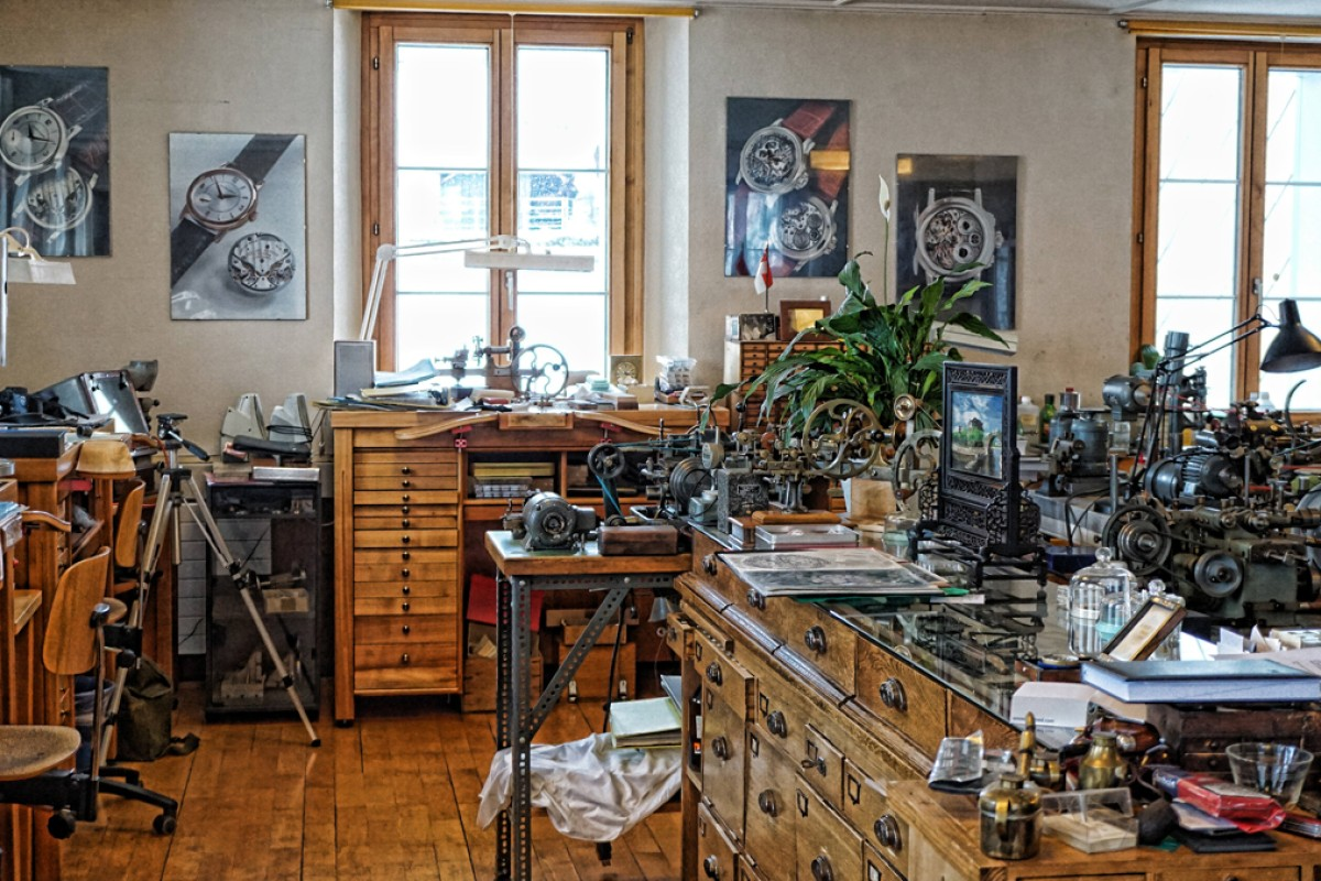 Philippe Dufour nurtured his skills at his atelier in Vallee de Joux.
