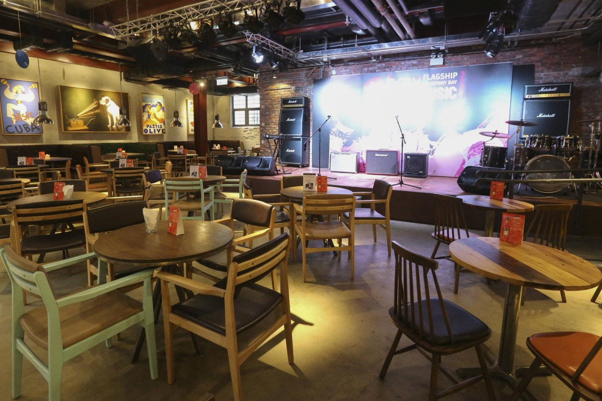 hmv reinvented live music bar restaurant and more at new causeway bay store post magazine. Black Bedroom Furniture Sets. Home Design Ideas