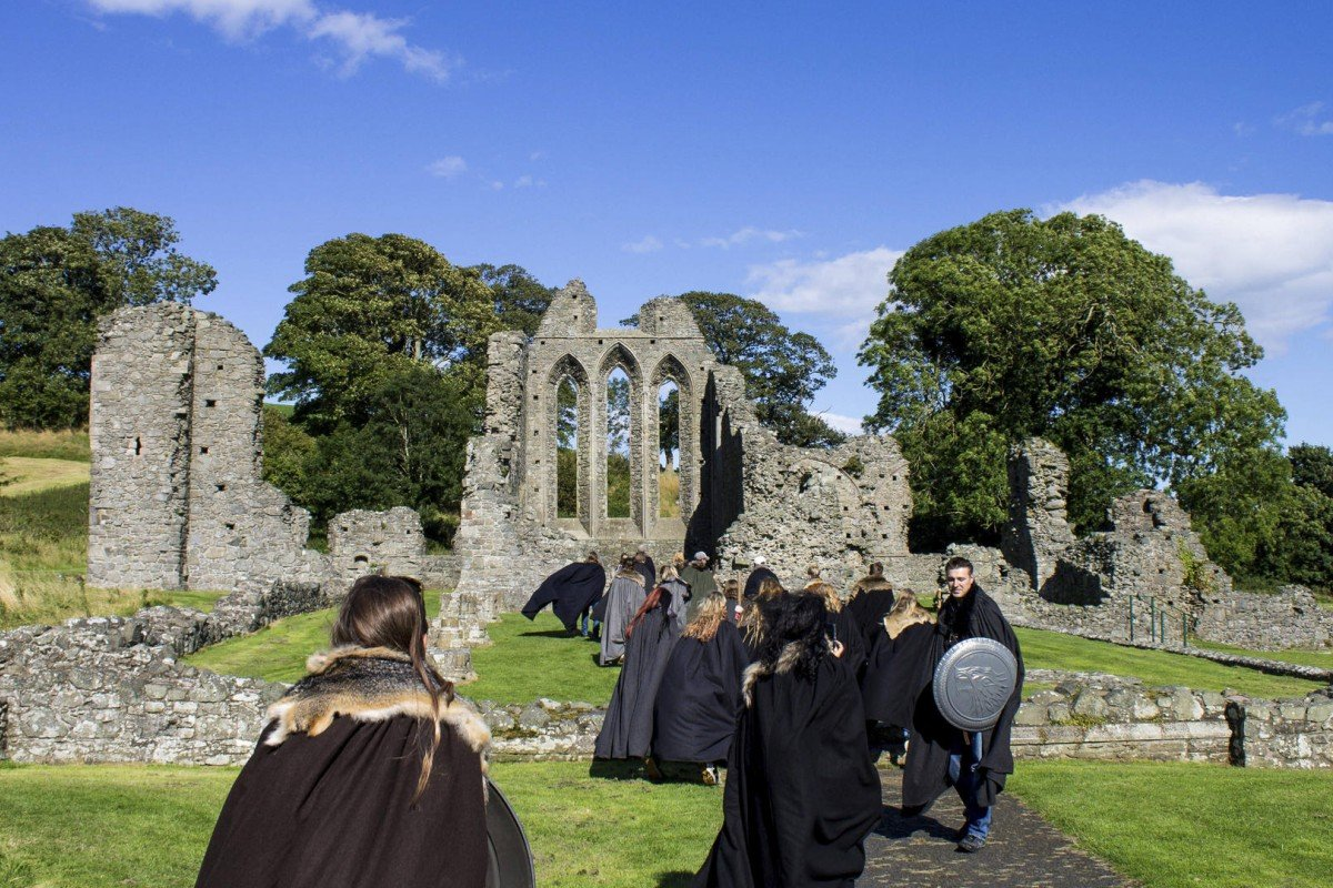 The ruins of Inch Abbey, a set location for Game of Thrones.