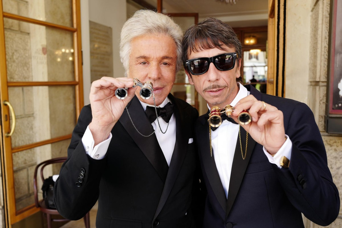 Giancarlo Giammetti and Pierpaolo Piccioli are excited to see the show.