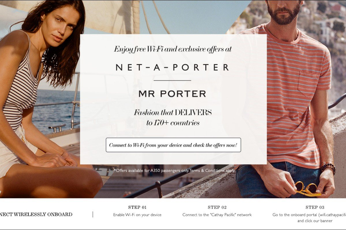 Cathay pacific teams up with net a porter and mr porter for Net a porter