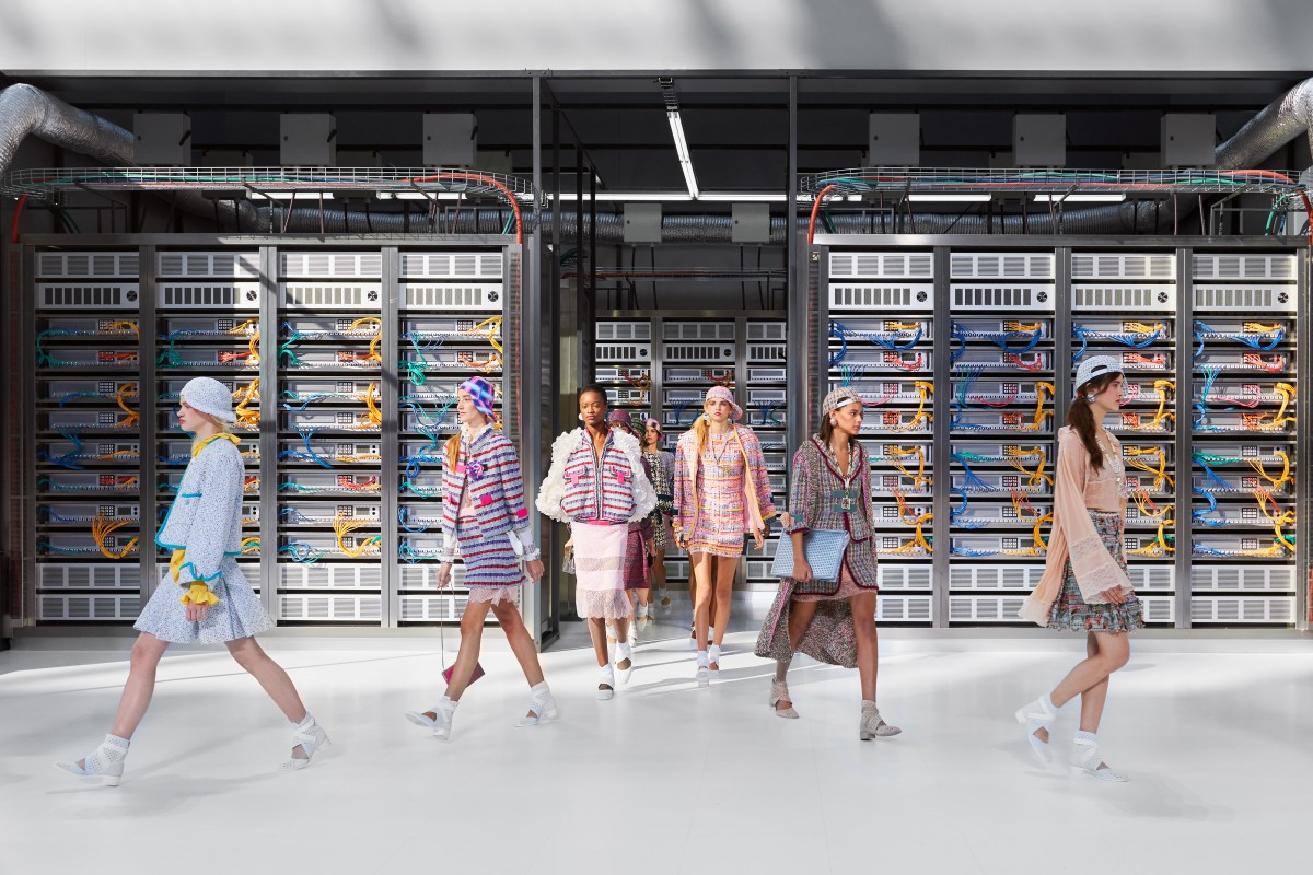 Karl Lagerfeld reincarnates robot look as Chanel goes cyber
