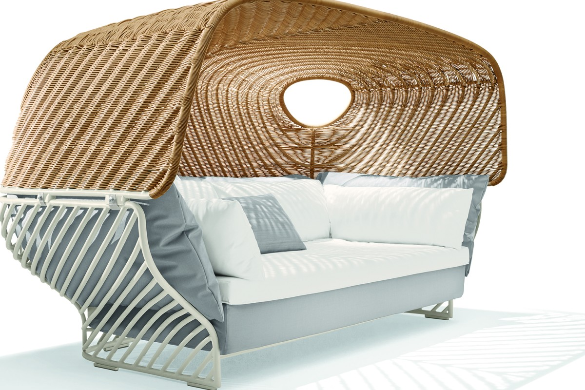 outdoor furniture in hong kong uses space in elegant and  - dedon's tigmi day bed