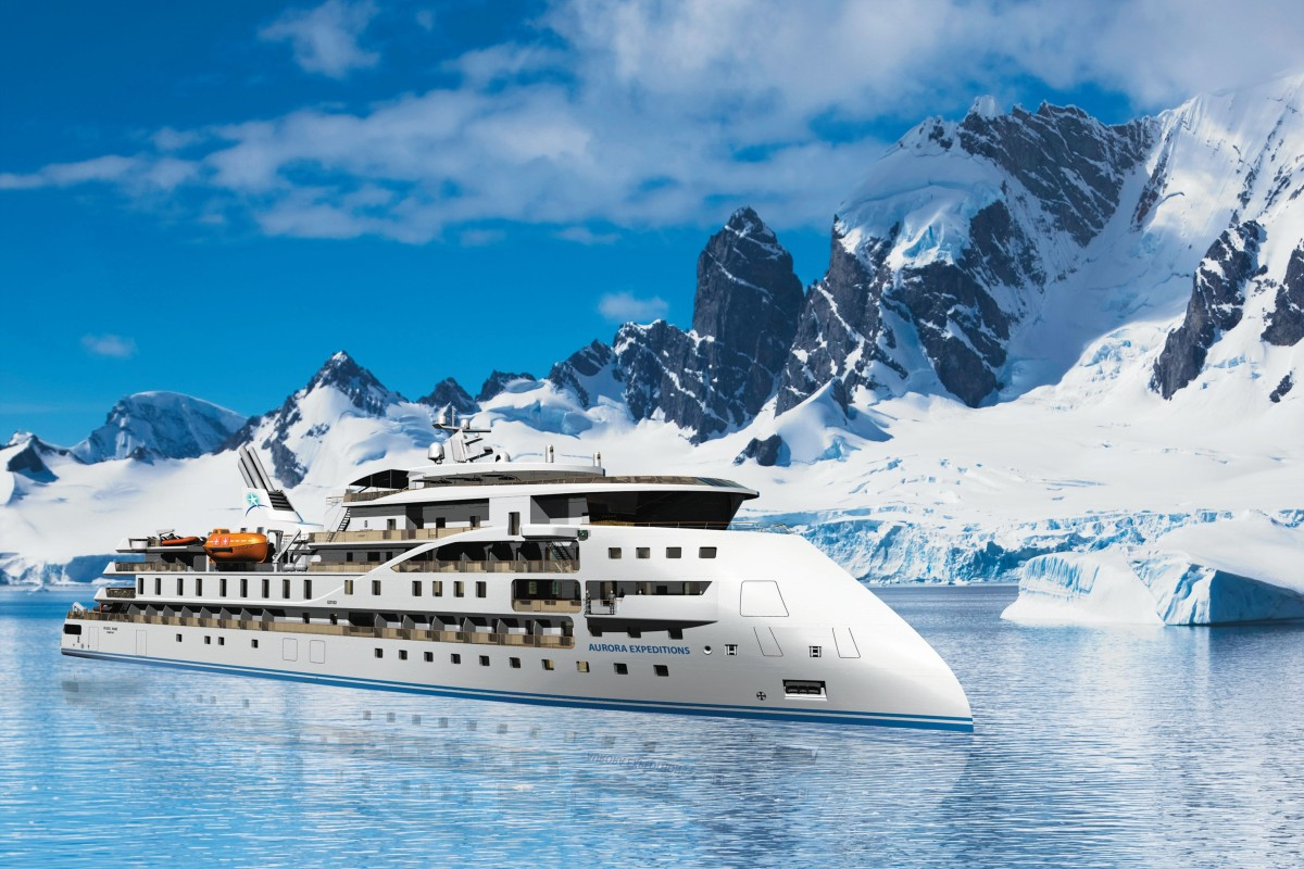 The ship, which uses patented technology for smoother sailing to the Arctic and the Antarctic, is designed for small group expeditions