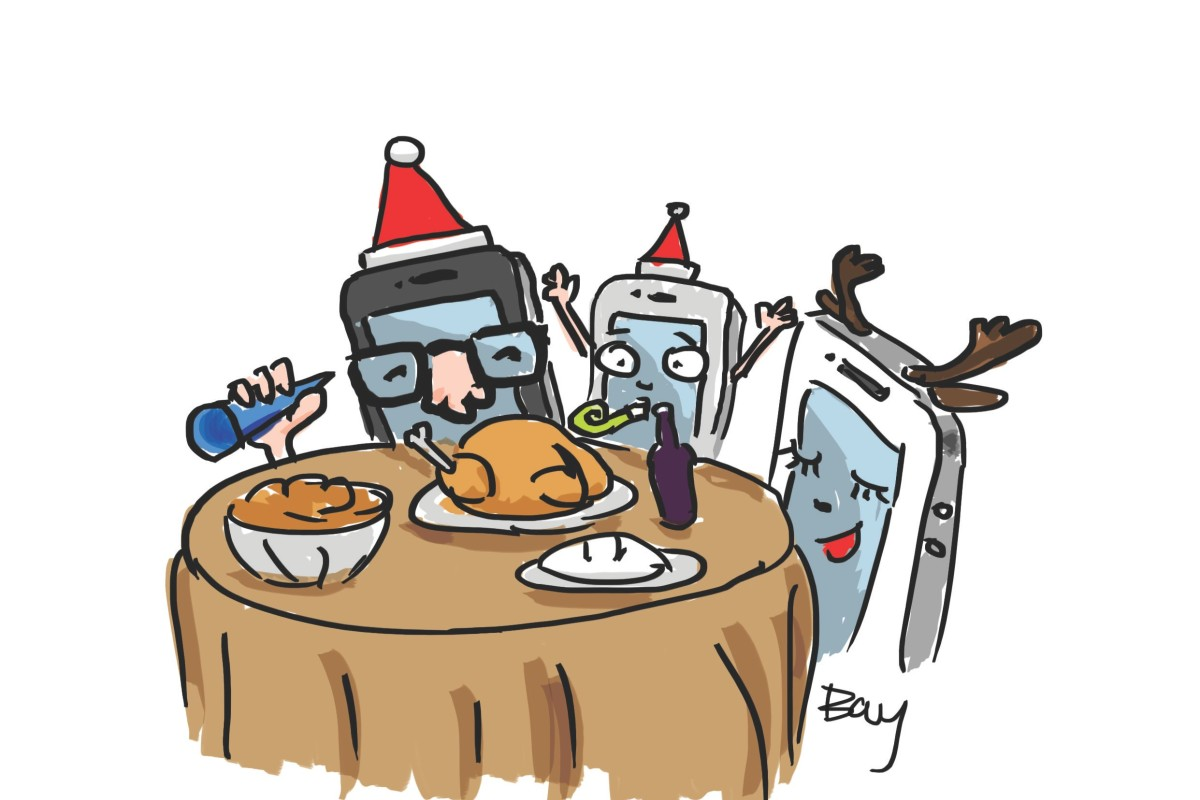 This christmas step out of your virtual world and keep it real illustration bay leung freerunsca Images