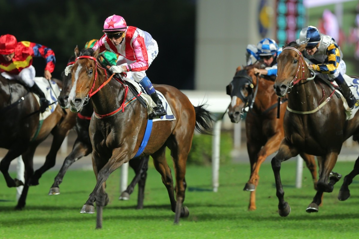 Victory Magic (right) has been in good form all season, including a second to subsequent Group Three winner Secret Weapon late last year. Photo: Kenneth Chan