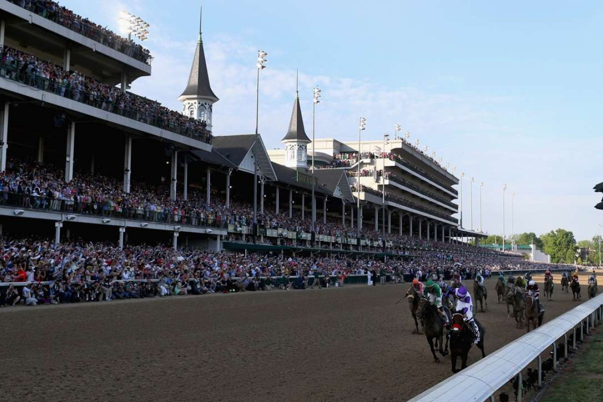 Nyquist salutes in the 142nd Kentucky Derby beneath the famous twin spires of Churchill Downs. Photo: AFP