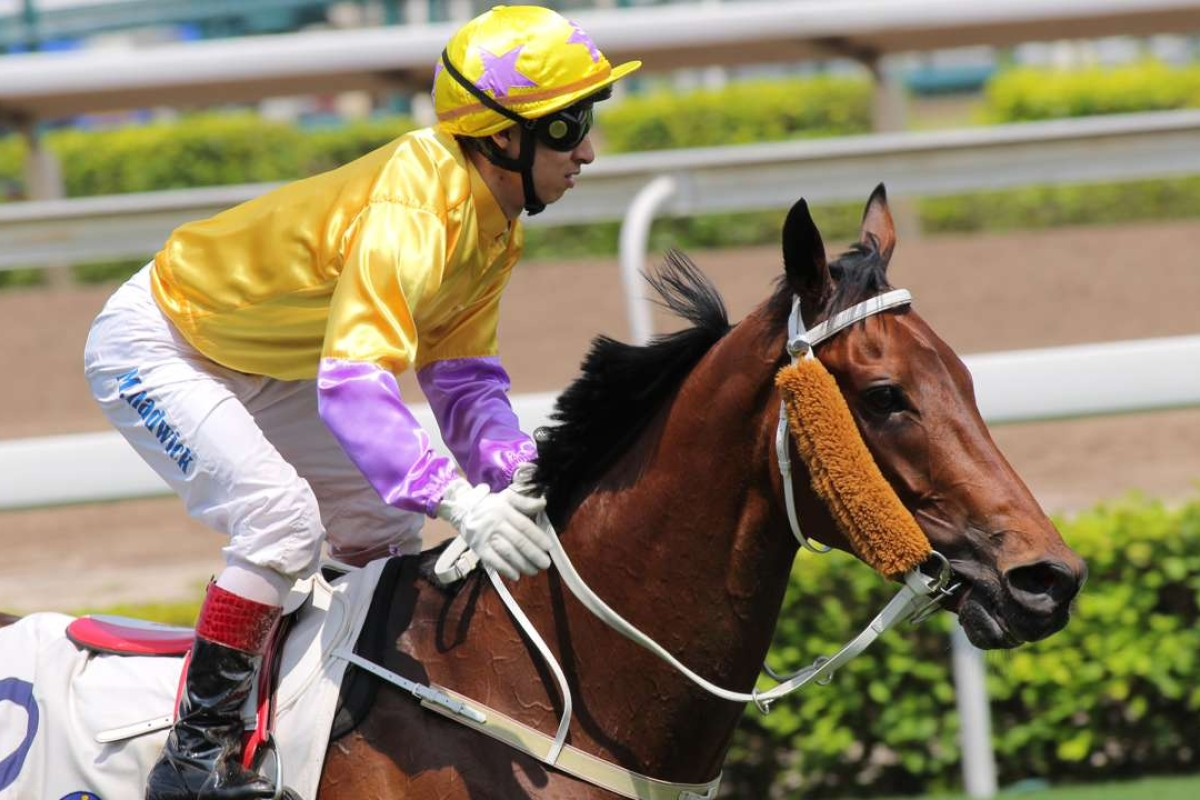 Matthew Chadwick returns after winning the Sha Tin Vase on Peniaphobia. Photo: Kenneth Chan