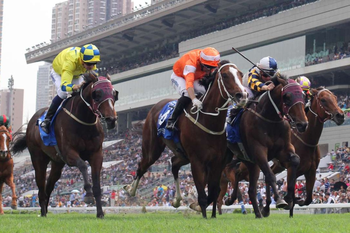 Blazing Speed makes it two Champions & Chater Cup wins in three seasons with his narrow success. Photo: Kenneth Chan