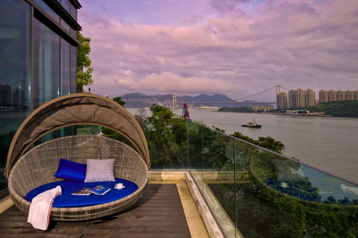 The duplex in Tsuen Wan West has stunning views. Photography: John Butlin