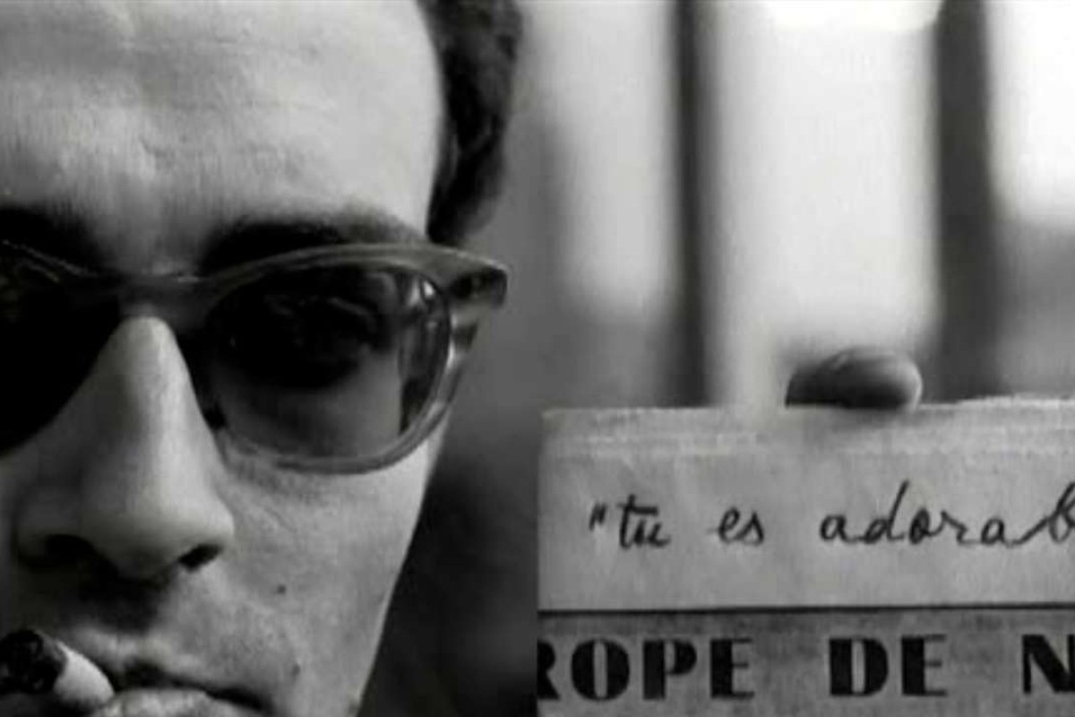 Jean-Luc Godard in a scene from Jacques Rivette's Paris Belongs to Us (1961).