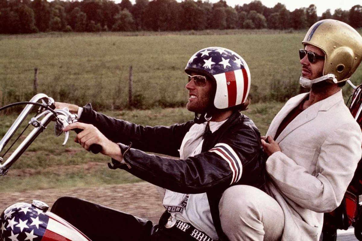 Peter Fonda (left) and Jack Nicholson in Easy Rider (1969)