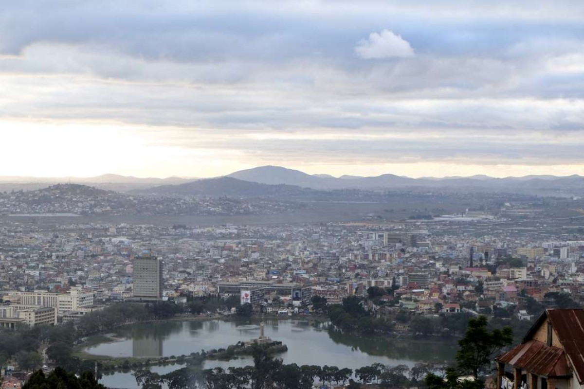 The view from Rova, a palace built in the early 17th century, in Antananarivo, Madagascar. Pictures: Ron Emmons