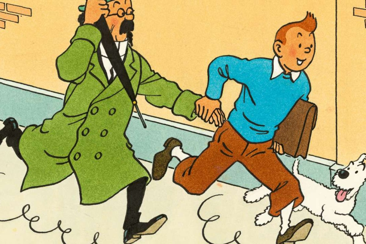 A 1967 Tintin cartoon by Hergé which features in Artcurial's Hong Kong auction. Image: HergeMoulinsart