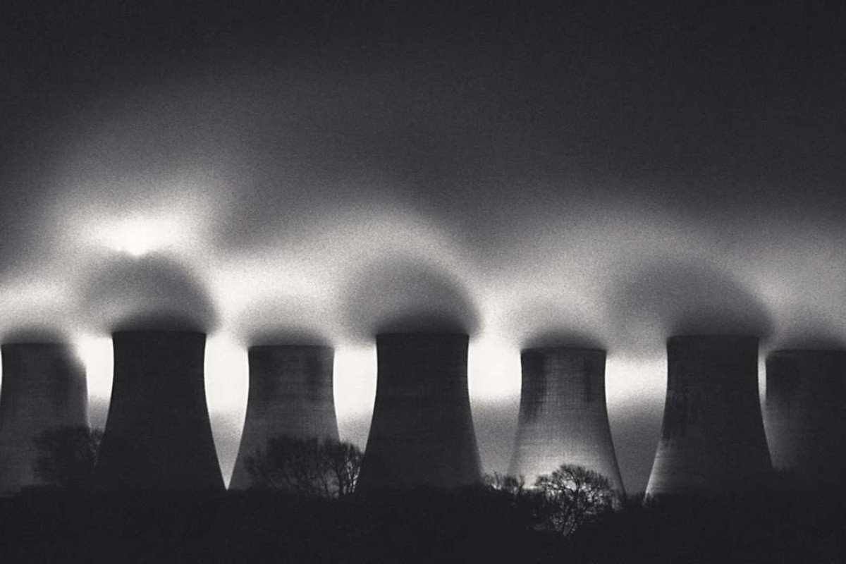 Michael Kenna's Ratcliffe Power Station, Study 31, Nottinghamshire, England (1987).