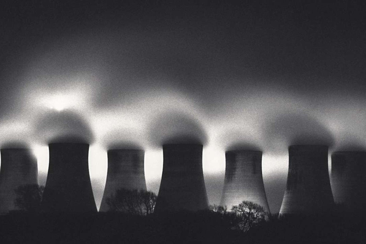 Michael Kenna's Ratcliffe Power Station, Study 31, Nottinghamshire, England (1987).