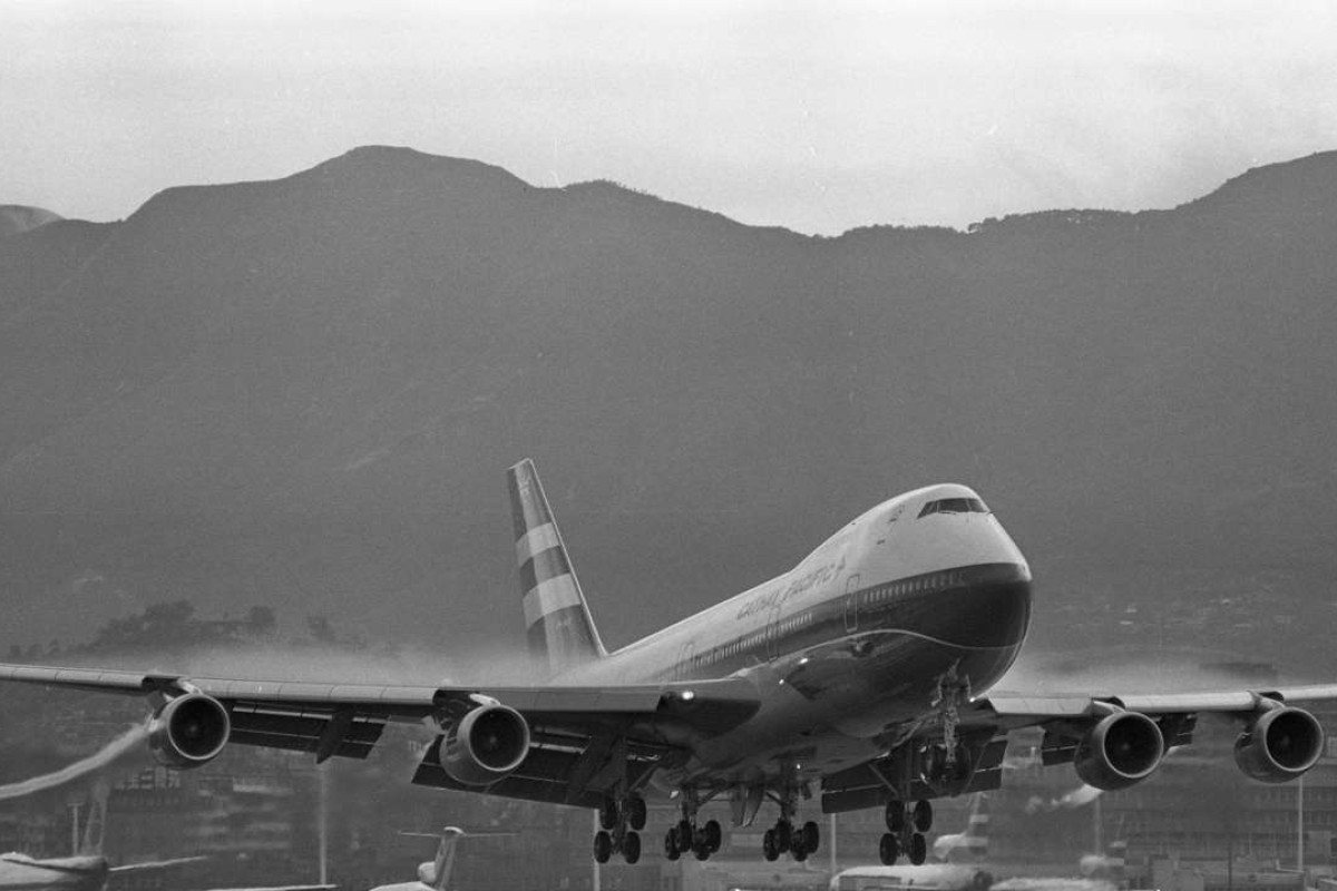 Cathay Pacific's first Boeing 747 lands at the Kai Tak Airport on July 31, 1979. Picture: SCMP