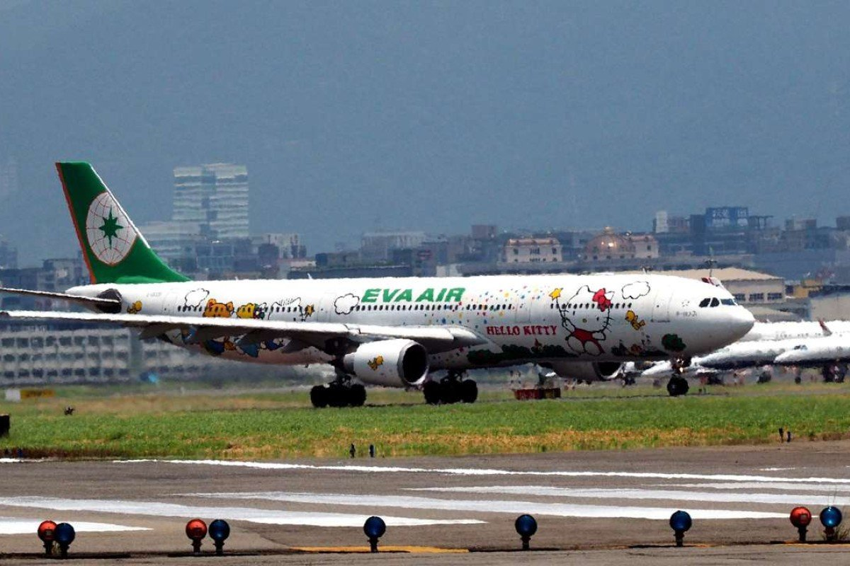 A jet at Taipei Songshan Airport. Photo: EPA