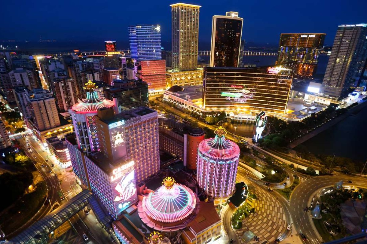 An aerial night view of casinos in Macau. Has the tide turned for its junket operators? Photo: AFP