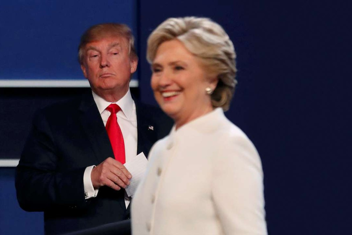 Republican U.S. presidential nominee Donald Trump and Democratic U.S. presidential nominee Hillary Clinton during the third and final 2016 presidential campaign debate last week. Photo: Reuters