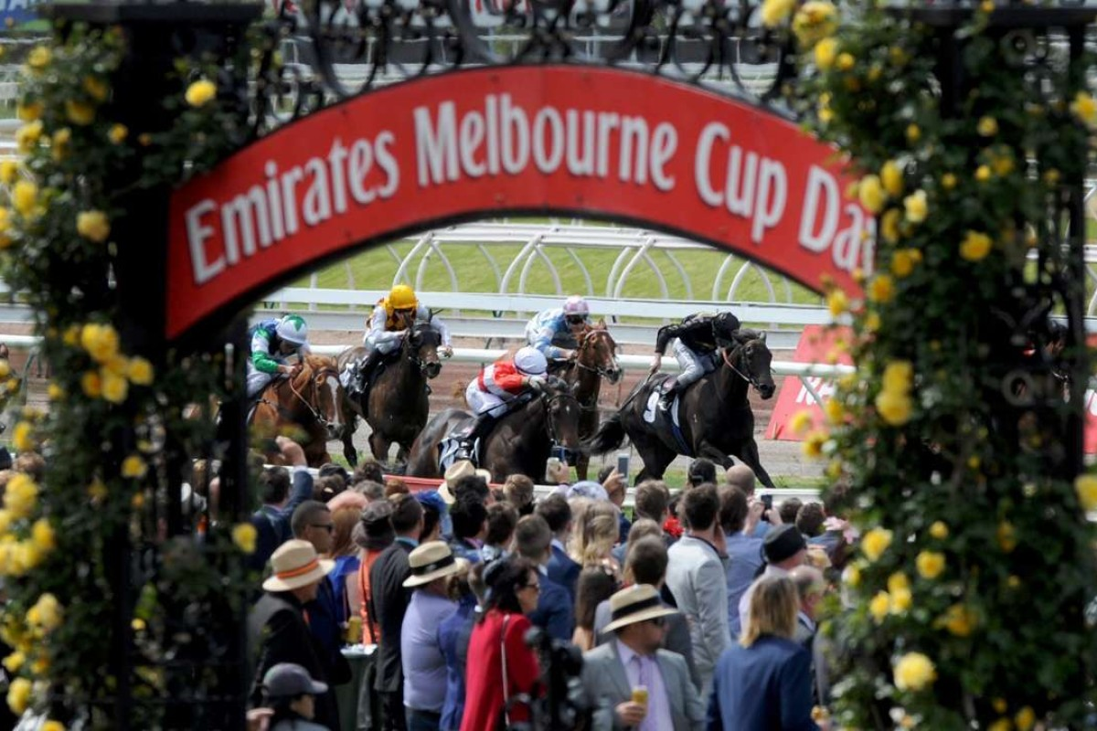 A view of the field on Melbourne Cup Day at Flemington Racecourse. Photo: EPA