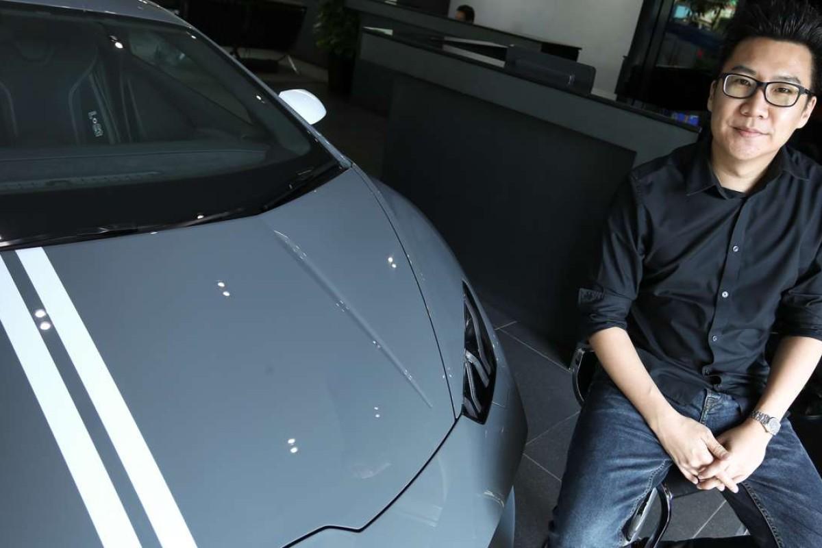 Albert Wong at the Lamborghini showroom in Wan Chai. Photo: Jonathan Wong