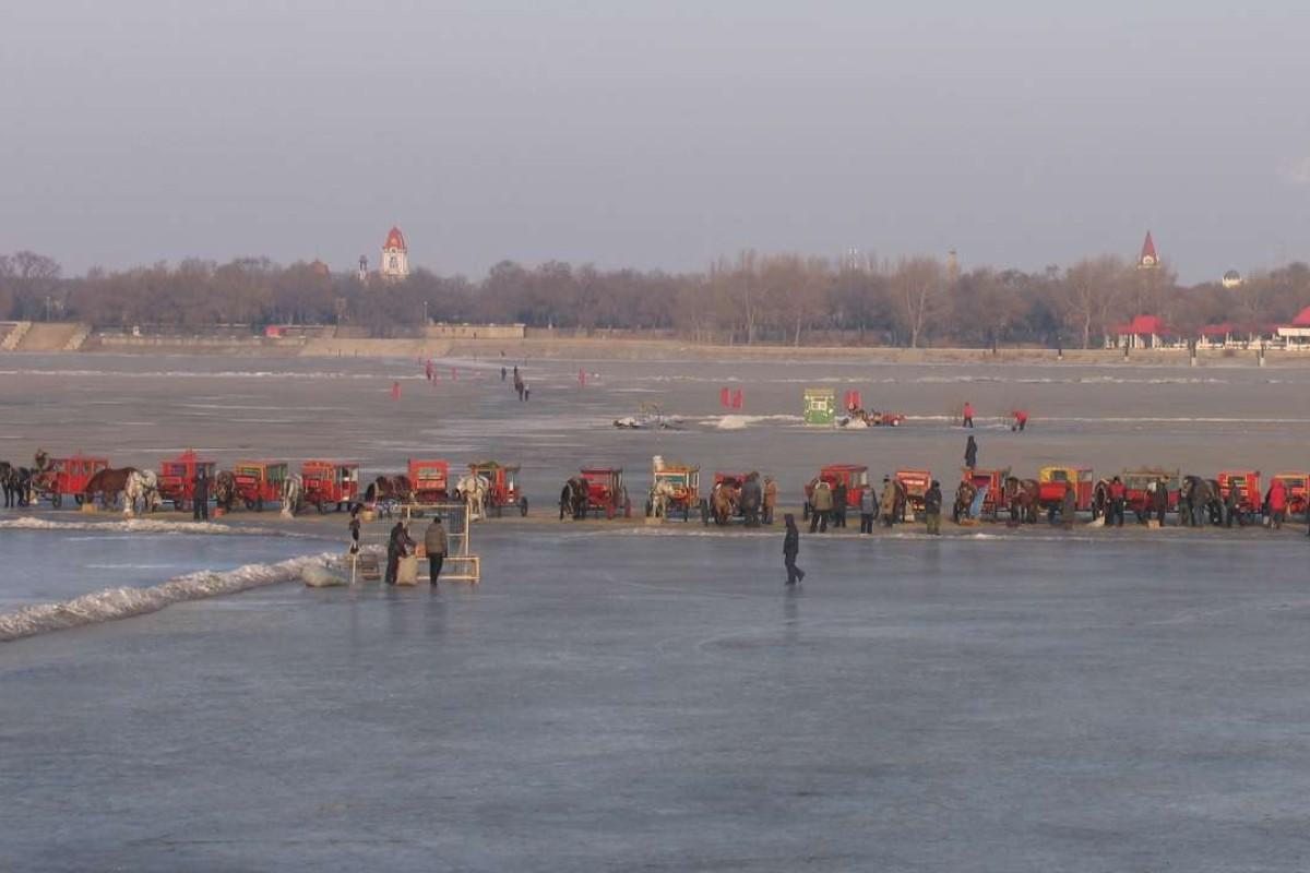 Songhua River, Harbin. Picture: Adam Nebbs