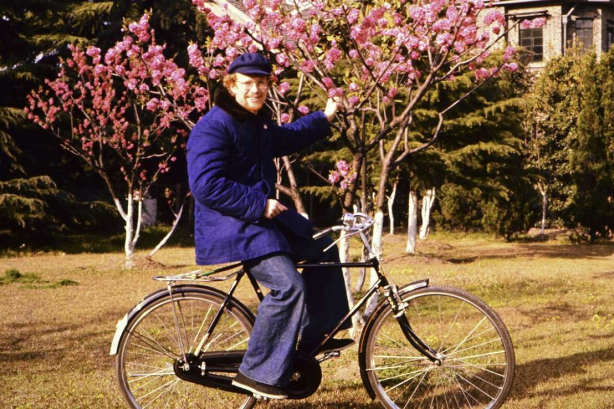 Richard Kirkby in Nanjing, in 1975, where he was forbidden from riding bicycles.